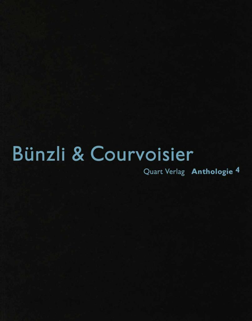Cover Bünzli & Couvoisier Anthologie 4